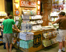 ORIC desk at REI in downtown Denver